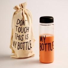Бутылка для напитков MY BOTTLE 500ml с чехлом Чёрная