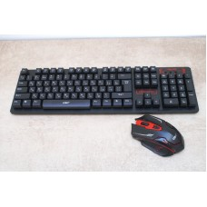 Русская беспроводная клавиатура + мышка HK6500 с адаптером