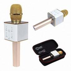 Беспроводной микрофон караоке блютуз Q7 Bluetooth динамик USB с ЧЕХЛОМ