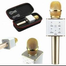 Беспроводной микрофон караоке блютуз Q9 Bluetooth динамик USB В ЧЕХЛЕ