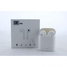 Беспроводные Наушники в Кейсе iX i7 TWS Bluetooth Гарнитура AirPods Белый