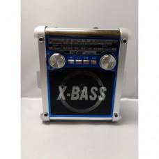 """Портативный радио приемник """"X-BASS"""" NS-258U LED USB FM с фонарём"""