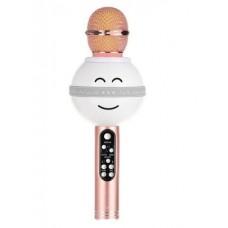 Беспроводной микрофон караоке блютуз WS-878 Bluetooth динамик USB Белый