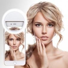 Вспышка-подсветка для телефона селфи-кольцо Selfie Ring Ligh Белый