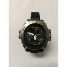 Кварцевые спортивные Наручные Часы G-Shock 3 protection Чёрные