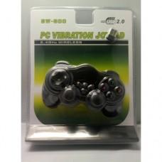 Беспроводной bluetooth джойстик для ПК PC GamePad DualShock вибро EW-800