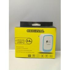 Адаптер блок питания зарядка на 2 USB 5V 3,1A