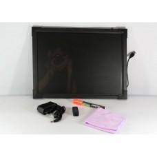 Флуоресцентная доска FLUORECENT BOARD 50*70 c фломастером и салфеткой