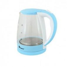 Дисковый электрический чайник Domotec MS-8214 С подсветкой Синий