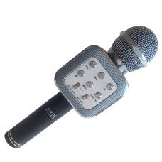 Беспроводной микрофон караоке блютуз WS1818 Bluetooth В ЧЕХЛЕ Чёрный