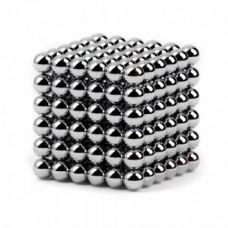 Неокуб Neocube 216 шариков 5мм в металлическом боксе серебристый