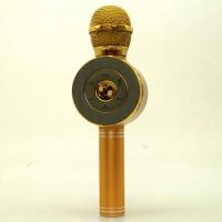Беспроводной микрофон караоке блютуз WSTER WS-668 Bluetooth динамик USB В ЧЕХЛЕ