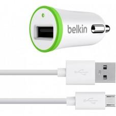 Автомобильное зарядное устройство Belkin F8J051 USB Micro USB 12V - 2.1А белый