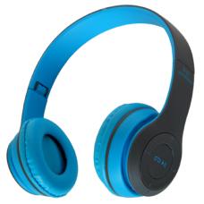 Беспроводные Наушники P-47 Bluetooth + MicroSD + FM Радио синие