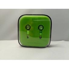 Вакуумные наушники гарнитура XIAOMI M5 Piston с микрофоном Зелёные