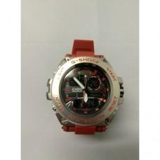 Кварцевые спортивные Наручные Часы G-Shock 3 protection Серые с красным ремешком