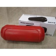 Портативная мобильная bluetooth MP3 колонка SPS Q610 BT Красная