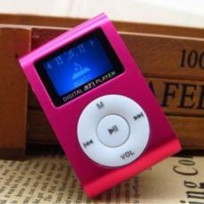 MP3 плеер TD04 с экраном FM алюминиевый корпус Розовый
