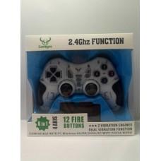 Беспроводной Джойстик 6 в 1 для ПК/PS2/PS3/PC360/ANDROID TV/WIN10 вибро Белый