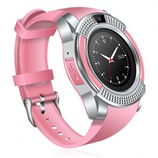 Сенсорные Smart Watch V8 смарт часы умные часы Розовые