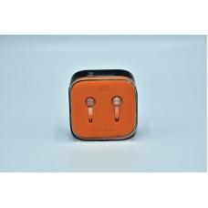 Вакуумные наушники гарнитура XIAOMI M5 Piston с микрофоном Оранжевый